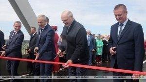 Александр Лукашенко открыл мост через реку Сож в Славгородском районе