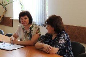 Заместитель председателя райисполкома Инна Васильевна Тарасова встретилась с коллективом «Белгосстраха»